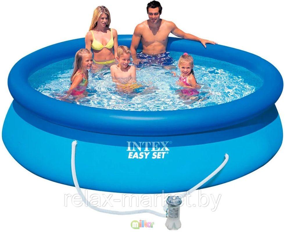 Надувной бассейн Intex Easy Set Pool 305 x 76см 28122 + фильтр-насос