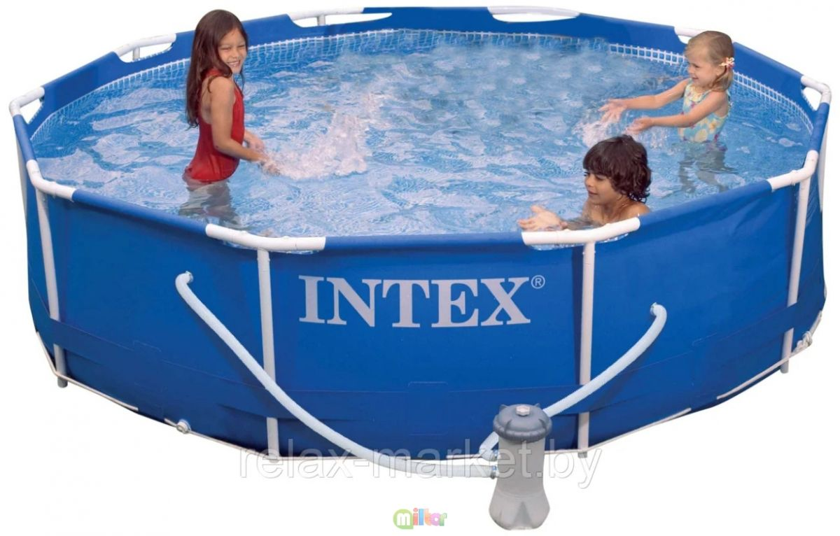 Каркасный бассейн Intex 305 x 76см 28202 с фильтр-насосом 1250 л/ч